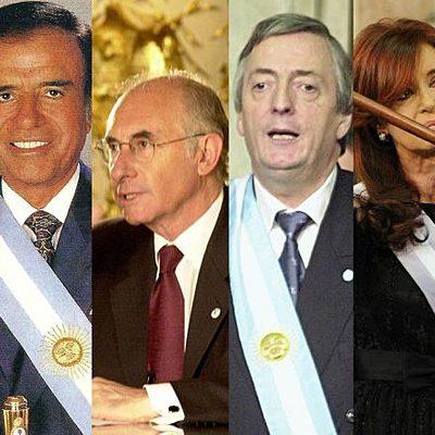 Presidencias Argentinas 1955-2002 timeline
