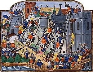 Die Türken erobern Konstantinopel