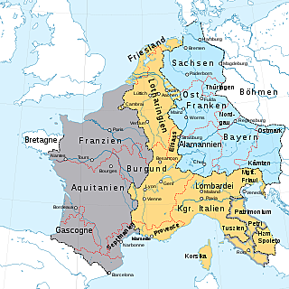 Teilung des Frankenreichs
