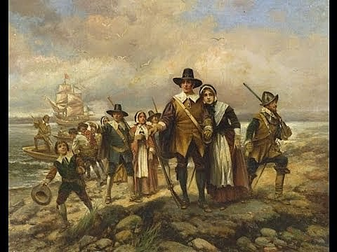 Pilgrims land in Plymouth