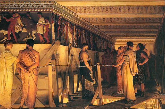 Constitucion democrática en Atenas