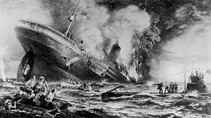 Lusitania sinks!