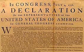 la declaración de la independencia