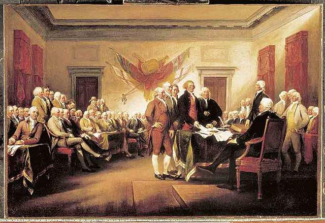 el congreso organiza el Ejercito Continental poniendo al mando a George Washington al día siguiente