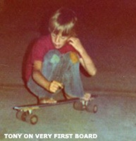 his brother Steve Hawk gave him his first skateboard