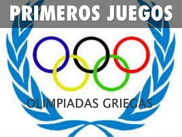 Primeras olimpiadas griegas