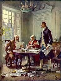 Jefferson redacta el borrador de La Declaración
