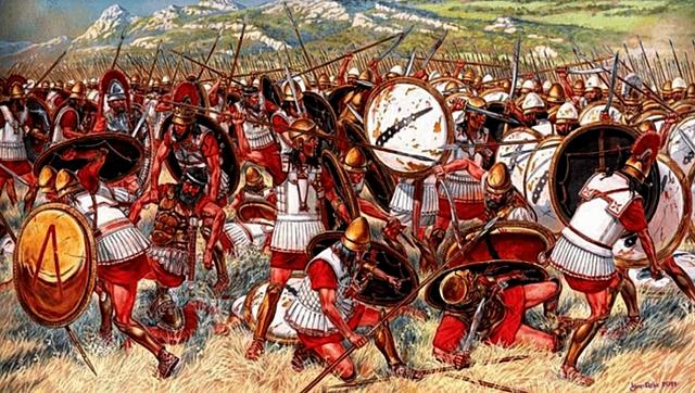 Esparta y Atenas vencen a Tebas