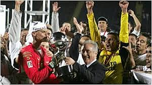 Fist team who won a tournament of the Conmebol in Mexico