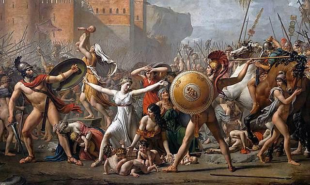 DAVID - EL RAPTE DE LES SABINES (pintura)