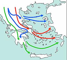 Entrada de los dorios en Grecia