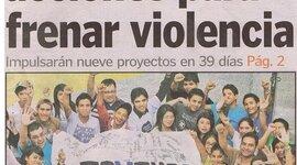 Jóvenes contra la Violencia PORTADA Prensa Libre 18.10.10 timeline