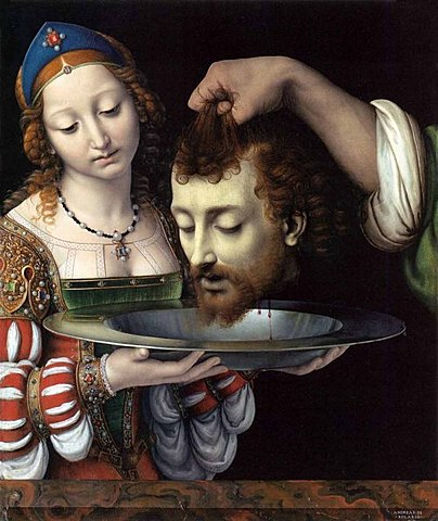 Solario's Salome with the head of John the Baptist