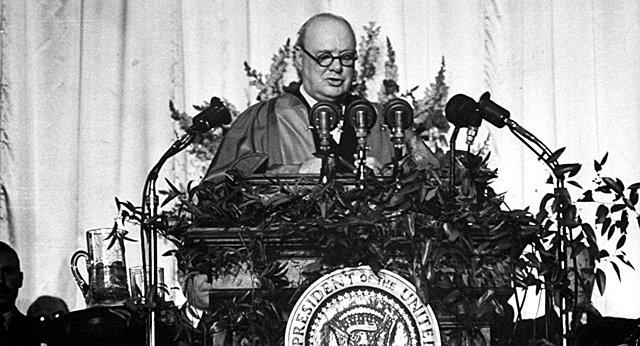 Churchill beschreibt die Teilung Europas in zwei Teile