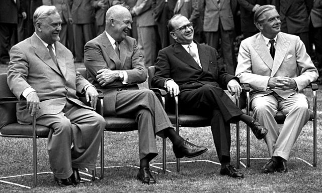 Genfer Gipfelkonferenz (1955) zwischen Frankreich, Großbritannien, der Sowjetunion und den USA
