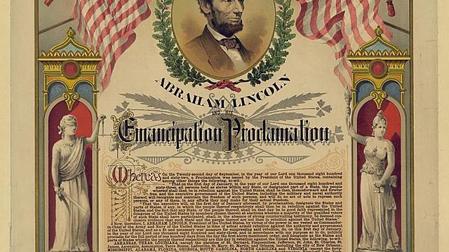 President Abraham Lincoln's Emancipation Proclamation
