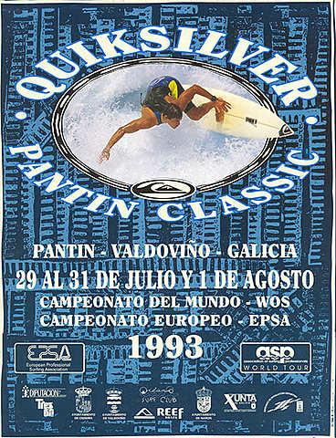 1993 - Los vencedores fueron el brasileño Joca Junior en la prueba mundial y el francés Cyril Robert en la europea