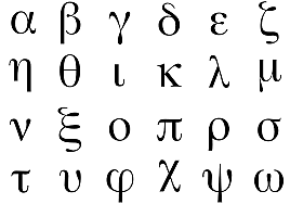 el desarrolo del alfabeto griego