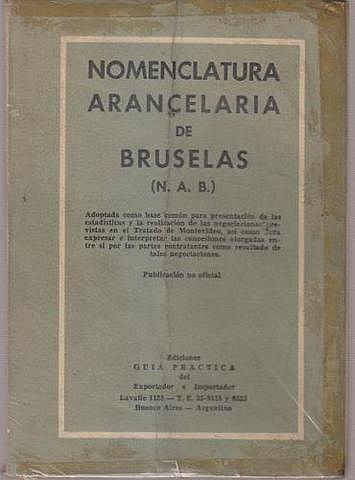 NOMENCLATURA ARANCELARIA DE BRUSELAS (NAB)