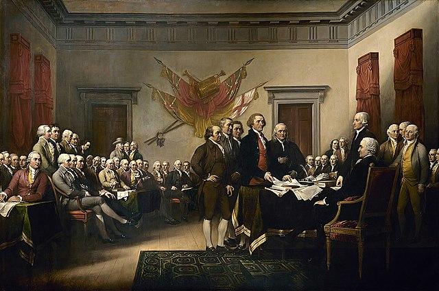 La Déclaration d'indépendance des États-Unis d'Amérique