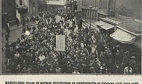 Primeres manifestacions a Catalunya