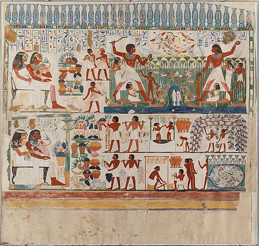 """Prof - La représentation de l'espace / Anonyme - """"Tombeau de Nakht"""" (Scribe et Astronome d'Amon), bas-relief mortuaire"""