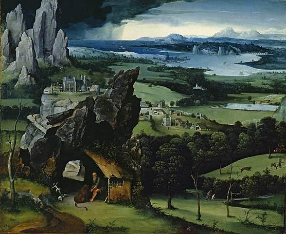 """Prof - Perspective(s) / Joachim Patinier - """"Paysage avec saint Jérôme"""" (Huile sur bois, 74 × 91 cm, Musée du Prado, Madrid)"""