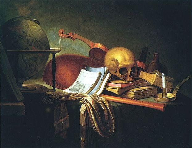 """Prof - Le temps représenté / Pieter van Steenwijck - """"Ars longa, Vita brevis"""" (huile sur toile, 74,5 x 96,5 cm)"""