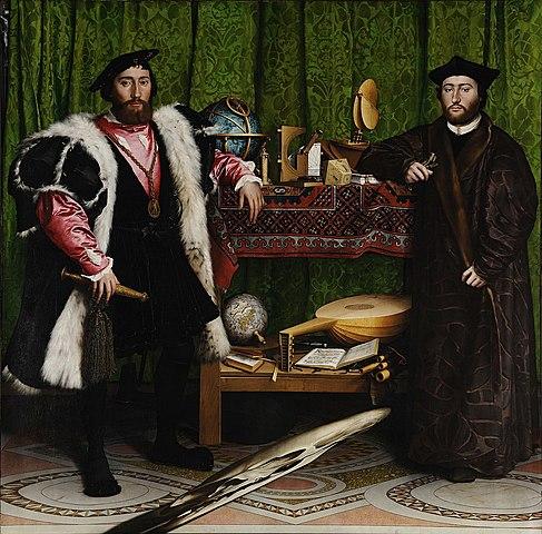 """Prof - Permanent ou éphémère / Hans Holbein le Jeune - """"Les Ambassadeurs"""" (huile sur panneaux de chêne, 207 x 209 cm, National Gallery, Londres)"""