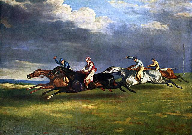 """Prof - Le mouvement / Théodore Géricault - """"Le derby d'Epsom"""" (huile sur toile, 92 x 123 cm, Musée du Louvre, Paris)"""