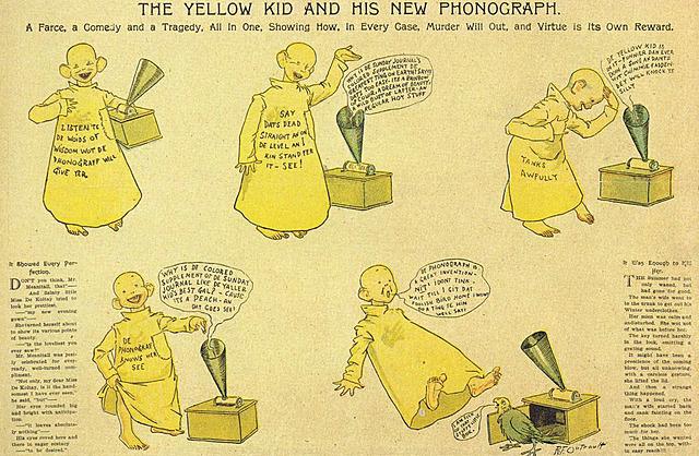 """Prof - La narration figurée, association avec l'écrit (BD) / Richard Felton Outcault - """"Hogan's Alley / The Yellow Kid"""" (comics strips publiés dans """"Truth Magazine"""" dès le 2 juin 1894)"""