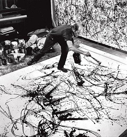 """Prof - Les gestes et mouvements de l'artiste / Jackson Pollock - """"Drippings"""" (peintures sur toile)"""