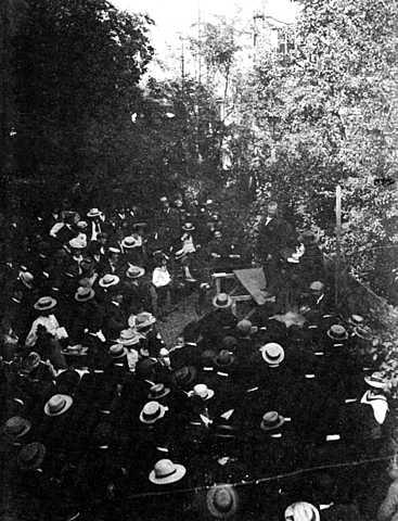 Celebració primer congrés anarquista inter.