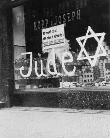 Boycot of Jewish shops and businesses.