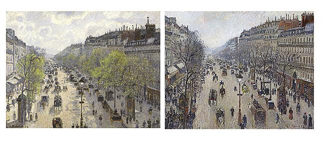Nº 10 Boulevard de Montmartre Primavera e Invierno Pissarro