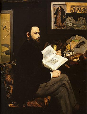 Retrato de Émile Zola , Manet