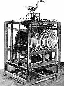 le premier automate de l'histoire dénommé fluteu