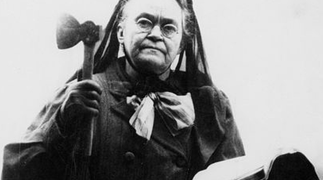 Carrie Nation and the Temperance Act