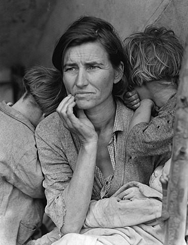 """Nº 33 """"Migrant Mother""""  Dorothea Lange"""
