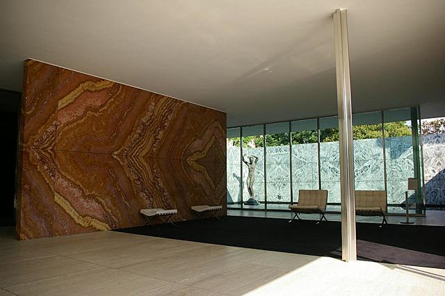 Nº 38 Mies Van der Rohe, Pabellón alemán de la exposición de Barcelona 1929