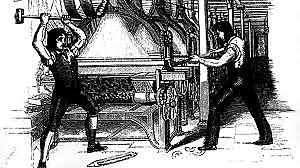 Luddites First Destroyed Machinery
