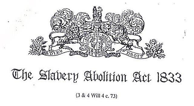 Abolition of Slavery Act Passed