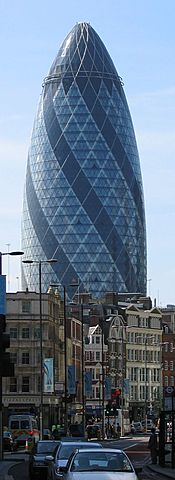 Nº 48 The Gherkin (Londres, 30 St Mary Axe), 2004. Norman Foster