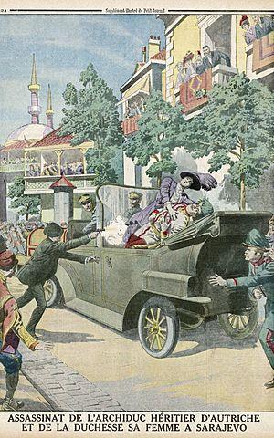 Assassinat de l'archiduc François-Ferdinand à Sarajevo