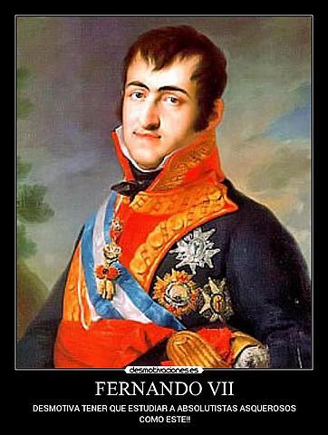 Fernando VII sale de España