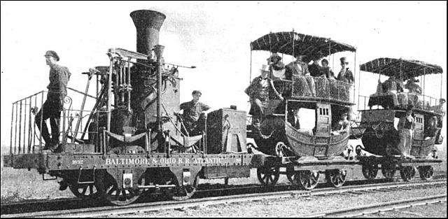 Trains are introduced to America