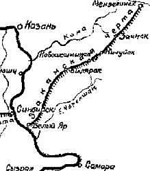 Сооружение Закамской засечной черты (Белый Яр - Мензелинск)