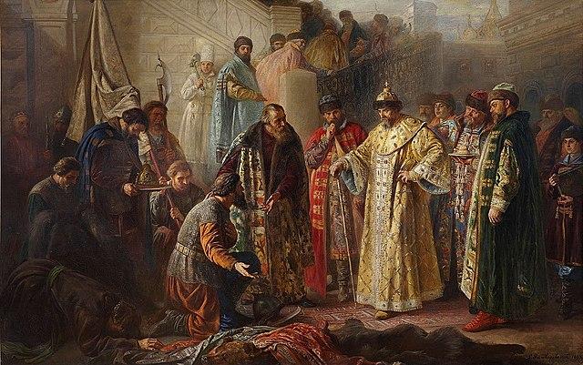 Посольство Ермака к царю в Москву.