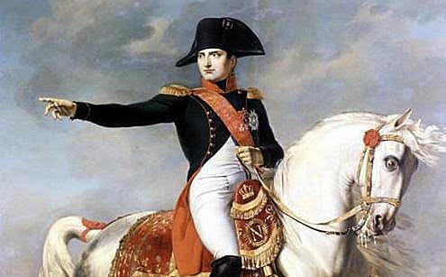 Napoleón se va de España.