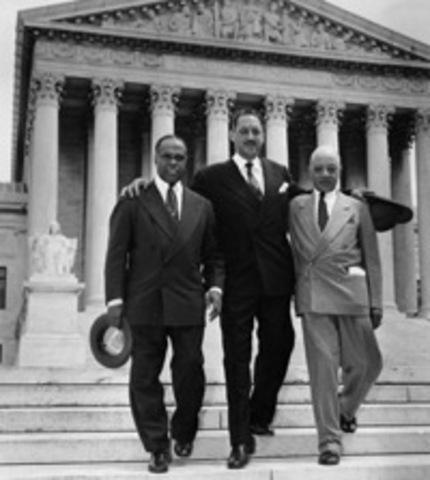 1954 May 17 U.S. Supreme Court bans segragation in public schools.